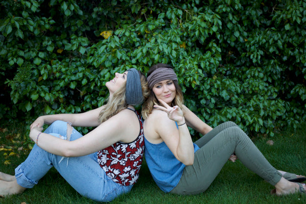 the Wild Lavender girls wearing the Hetta multi-functional hat by lines and current