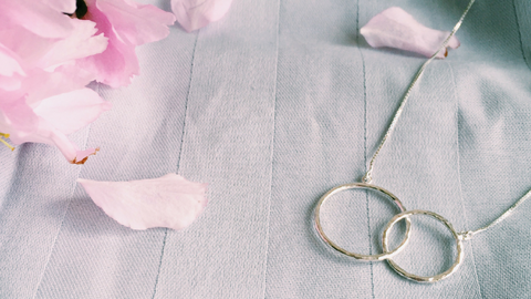 the elska infinity sterling silver necklace and thoughts on mindful open circles