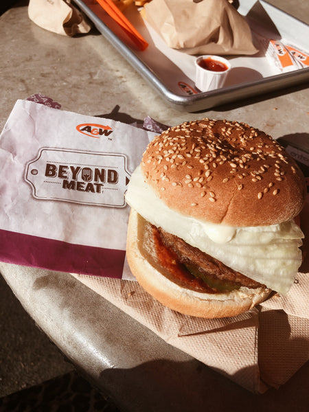 beyond meat burger by A&w