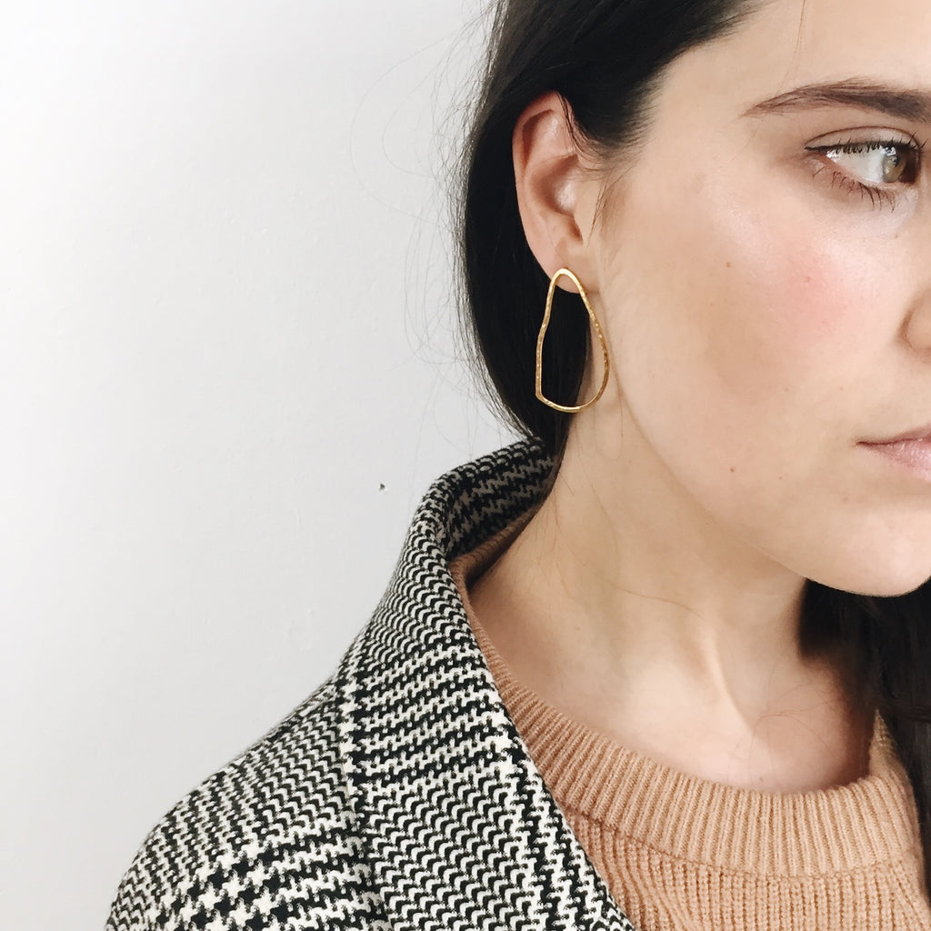 the DELILAH dreamer earrings in gold