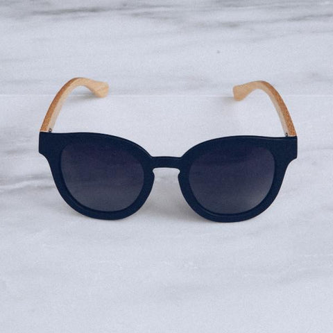 'Hendrik' Black Bamboo Sunglasses