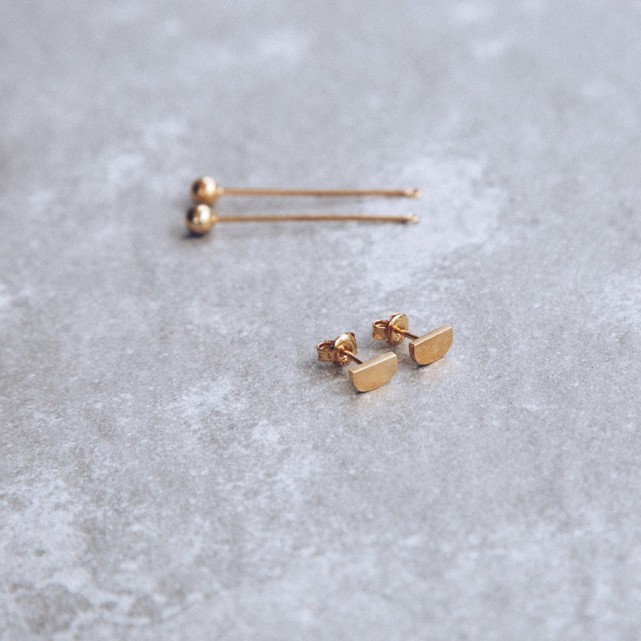 Mini-'D' Drop Earring | Sterling Silver