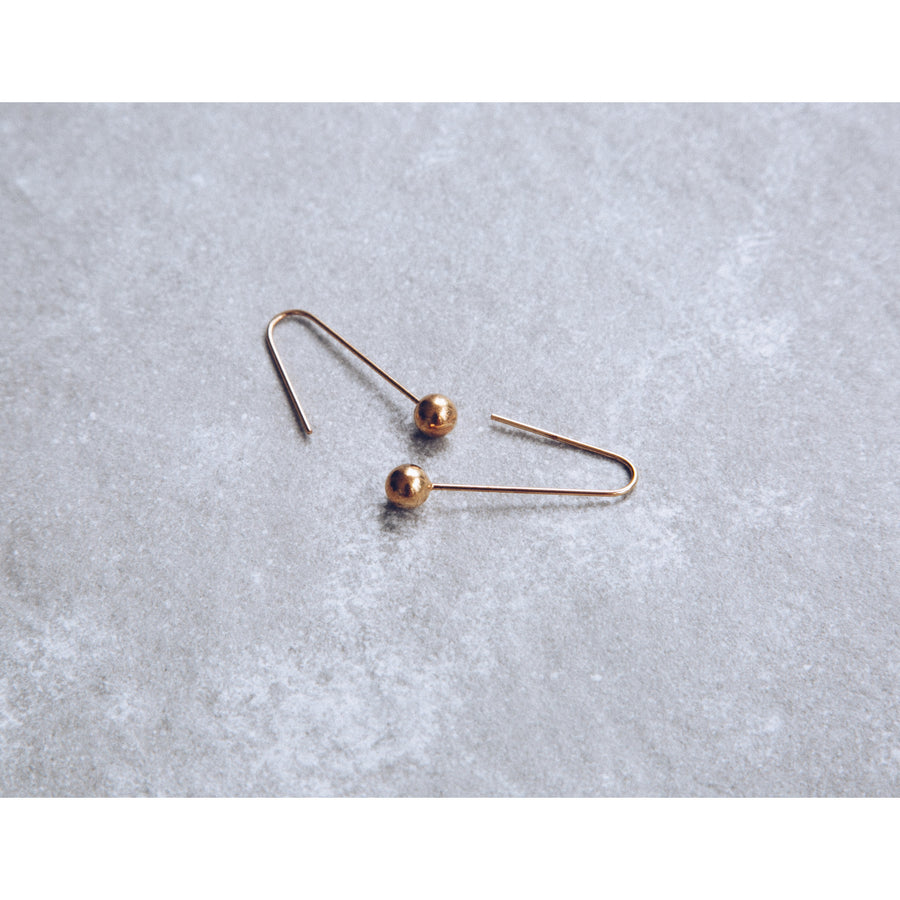 'Petra' - Pendulum Drop Ball Earring