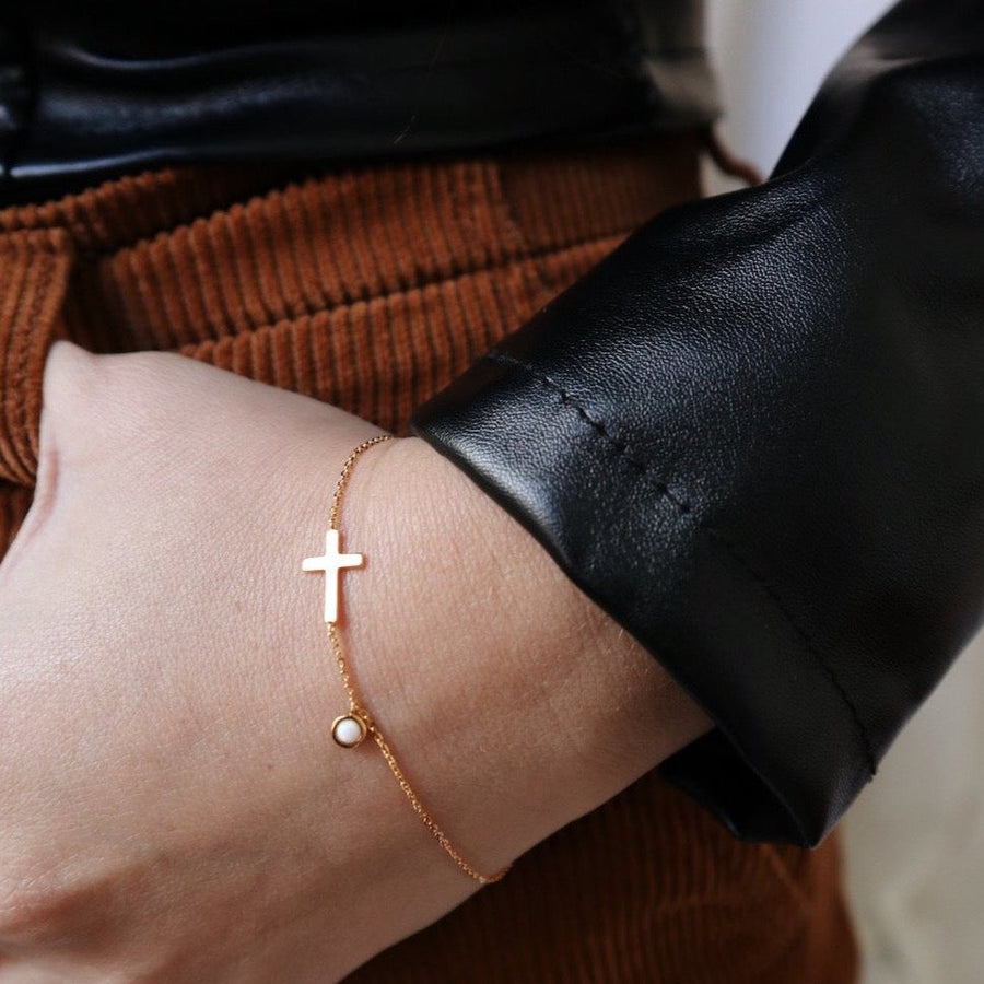 The Cross Chain Bracelet - Lines & Current