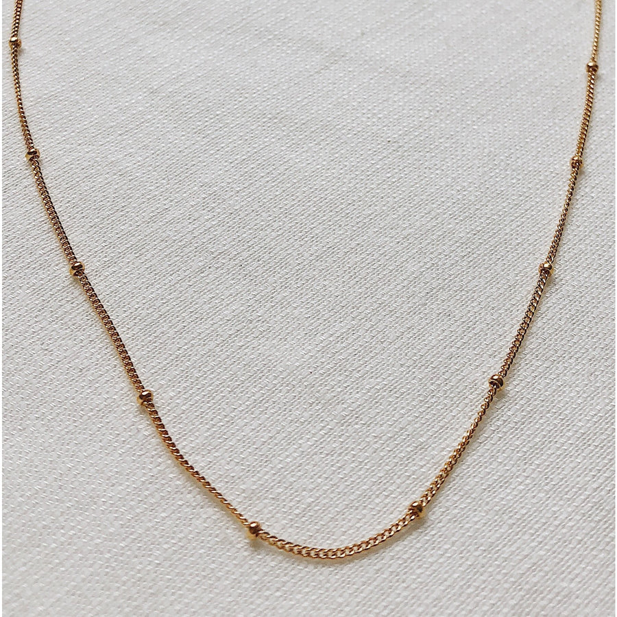 "Beaded Necklace Chain 48"" Extra Long 