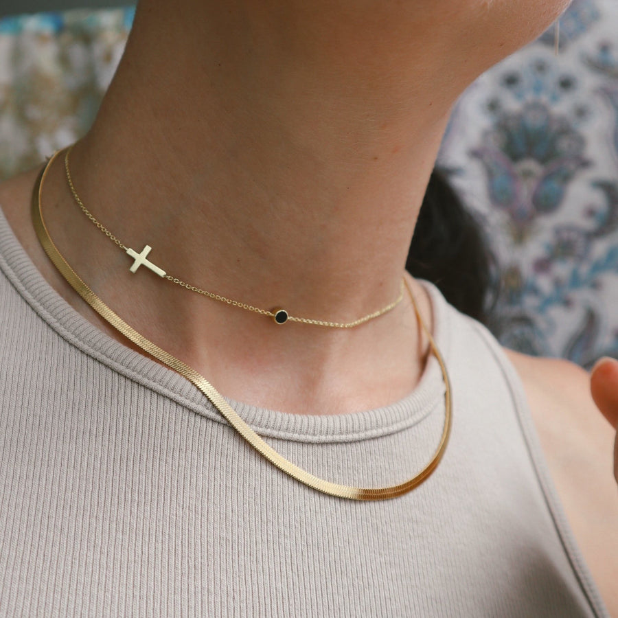 Cross Mona Choker Necklace