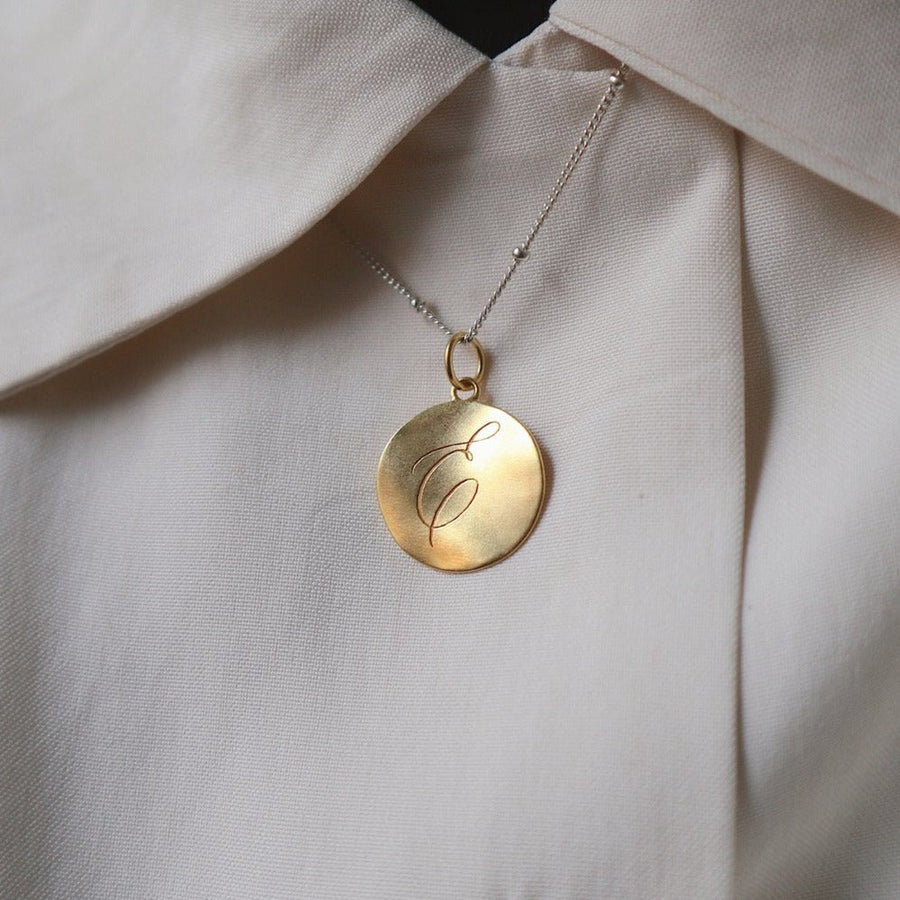 'Dreamer' Pendant Engraved Necklace