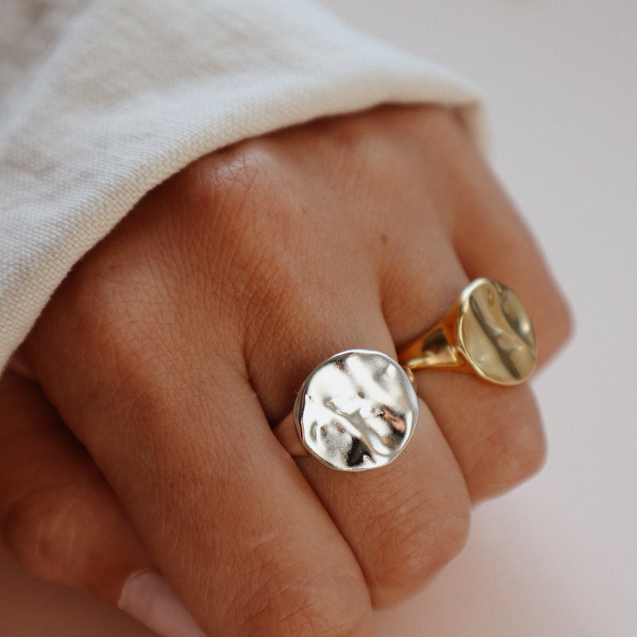 'Oceane' Ripple Ring