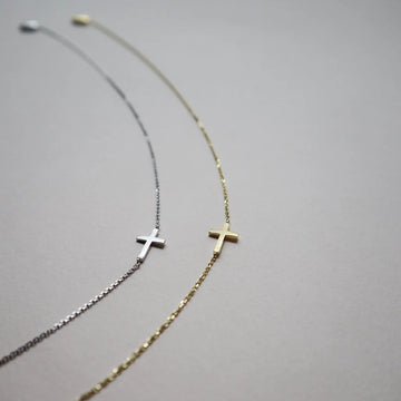 The Cross Necklace - Lines & Current