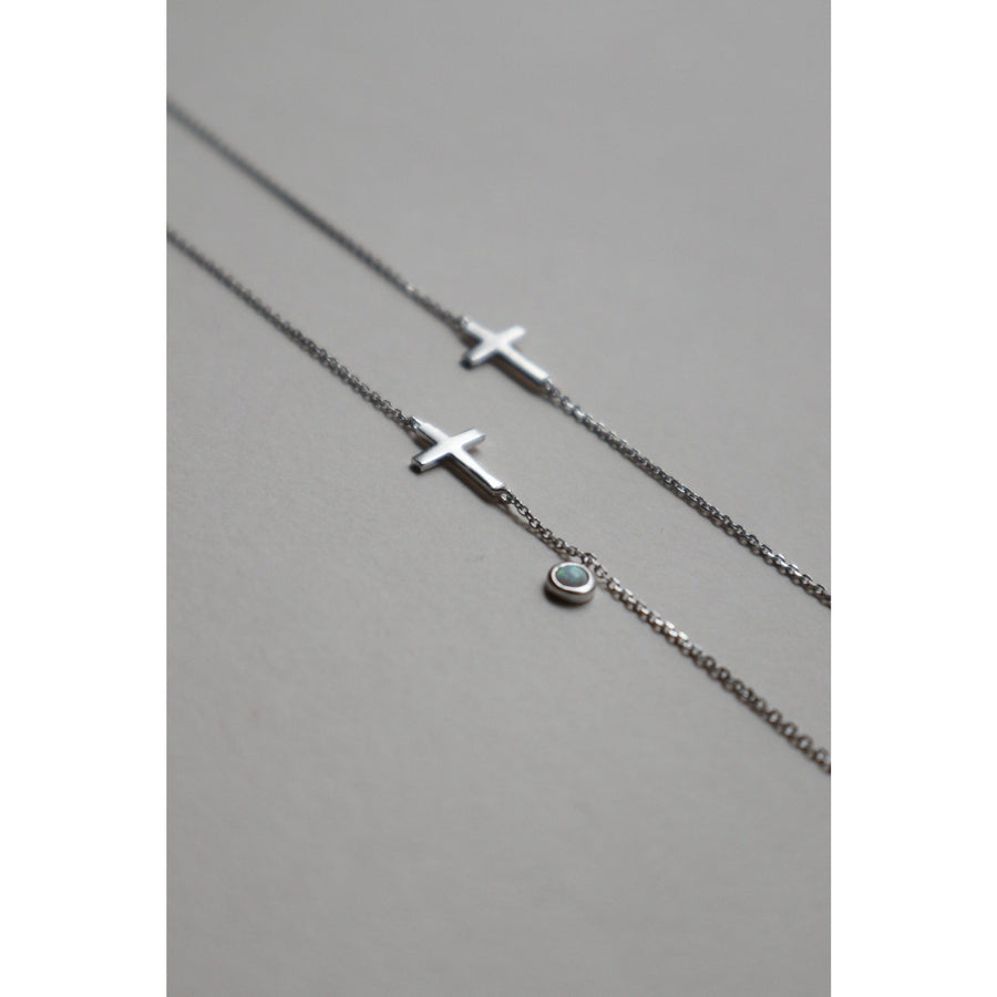 Cross Gift Set (Necklace + Bracelet) - Lines & Current