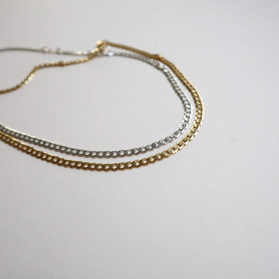 Carrie Curb Chain Necklace - Lines & Current