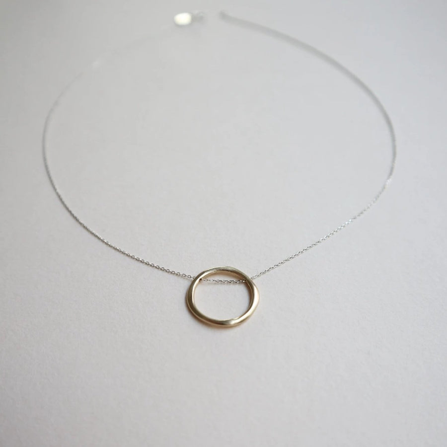 Barbara 9K Twisted Circle Necklace