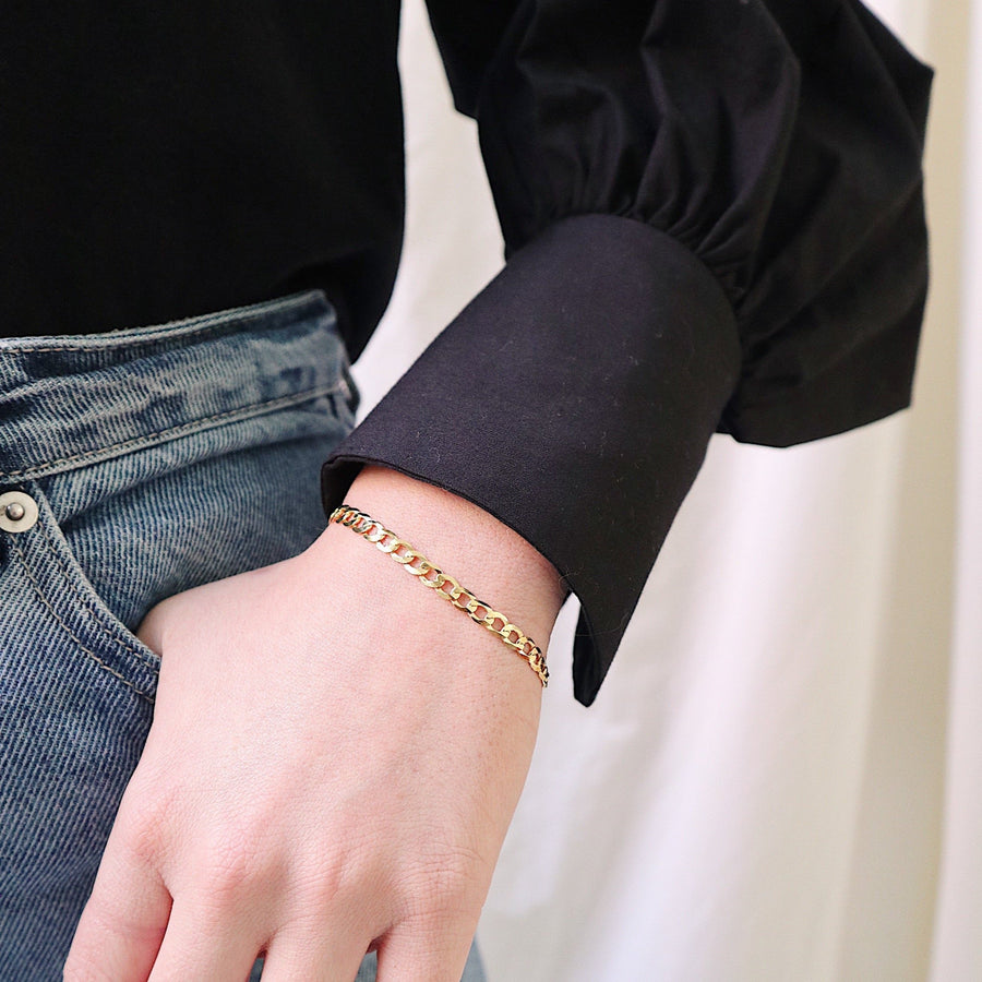 Carrie Curb Chain Bracelet - Lines & Current