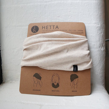'Hetta' Headband | Neck coil | Beanie | Bleached Blonde - Lines & Current