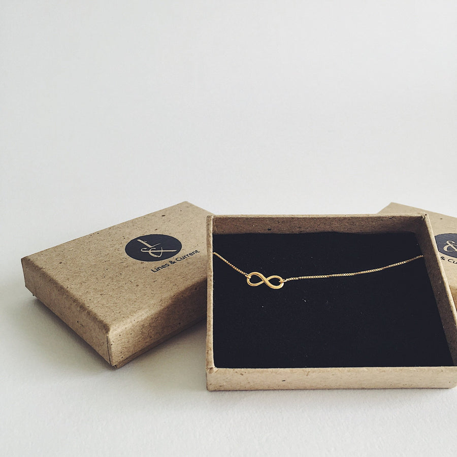 ALMA Infinity Necklace Hand-Twisted Bow Choker Sterling Silver or Gold Minimal Modern Hand Made Fine Jewellery