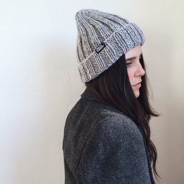 'Jasper' Ribbed Chunky Beanie Hat - Lines & Current