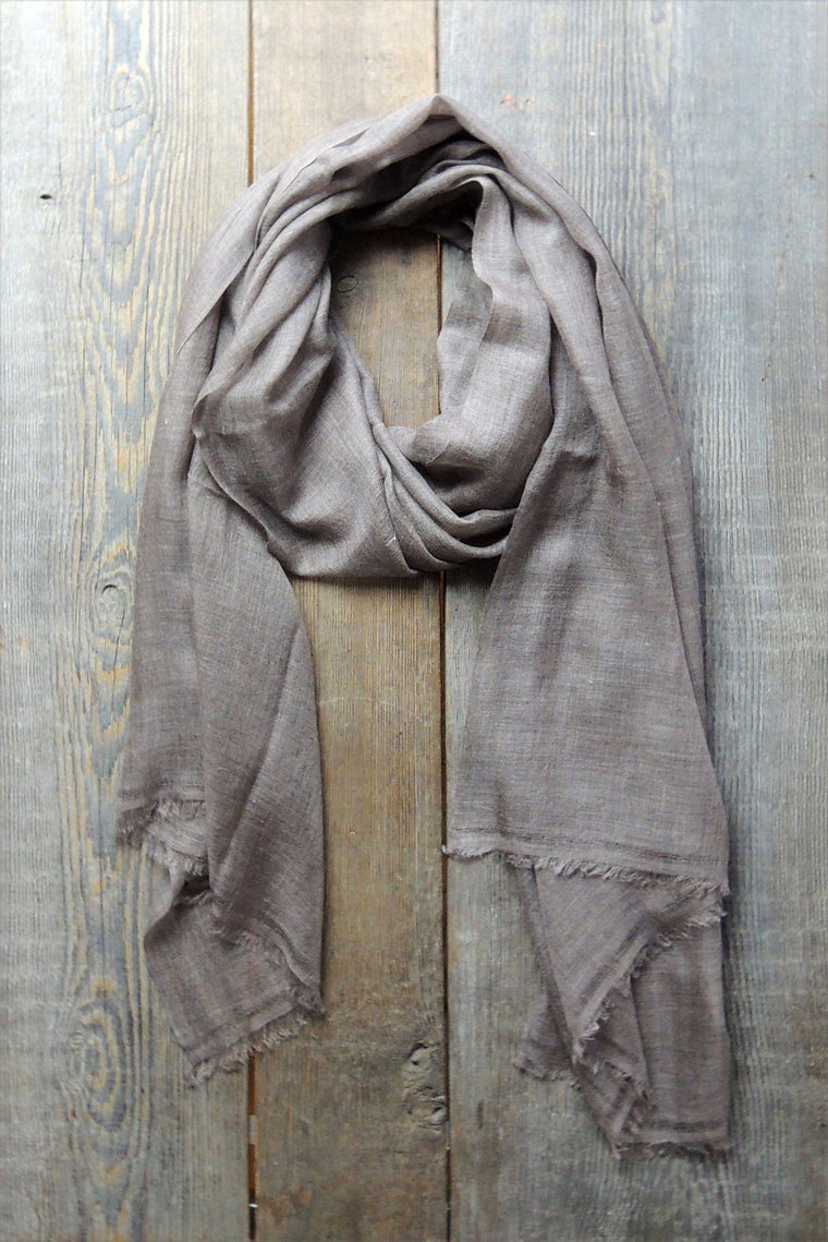 Brown Fine Cashmere Shawl - Simple Life Istanbul   - 1