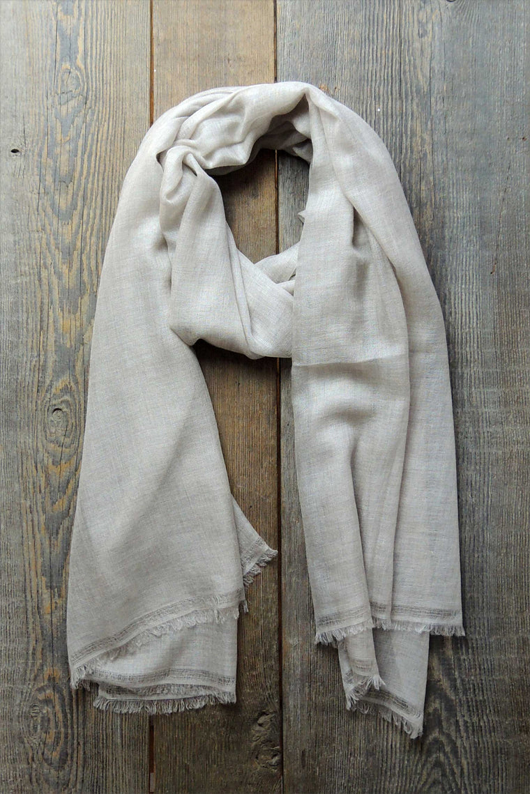 Linen Fine Cashmere Shawl - Simple Life Istanbul   - 1