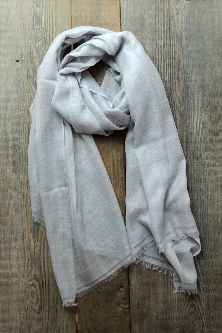 Light Grey Fine Cashmere Shawl - Simple Life Istanbul