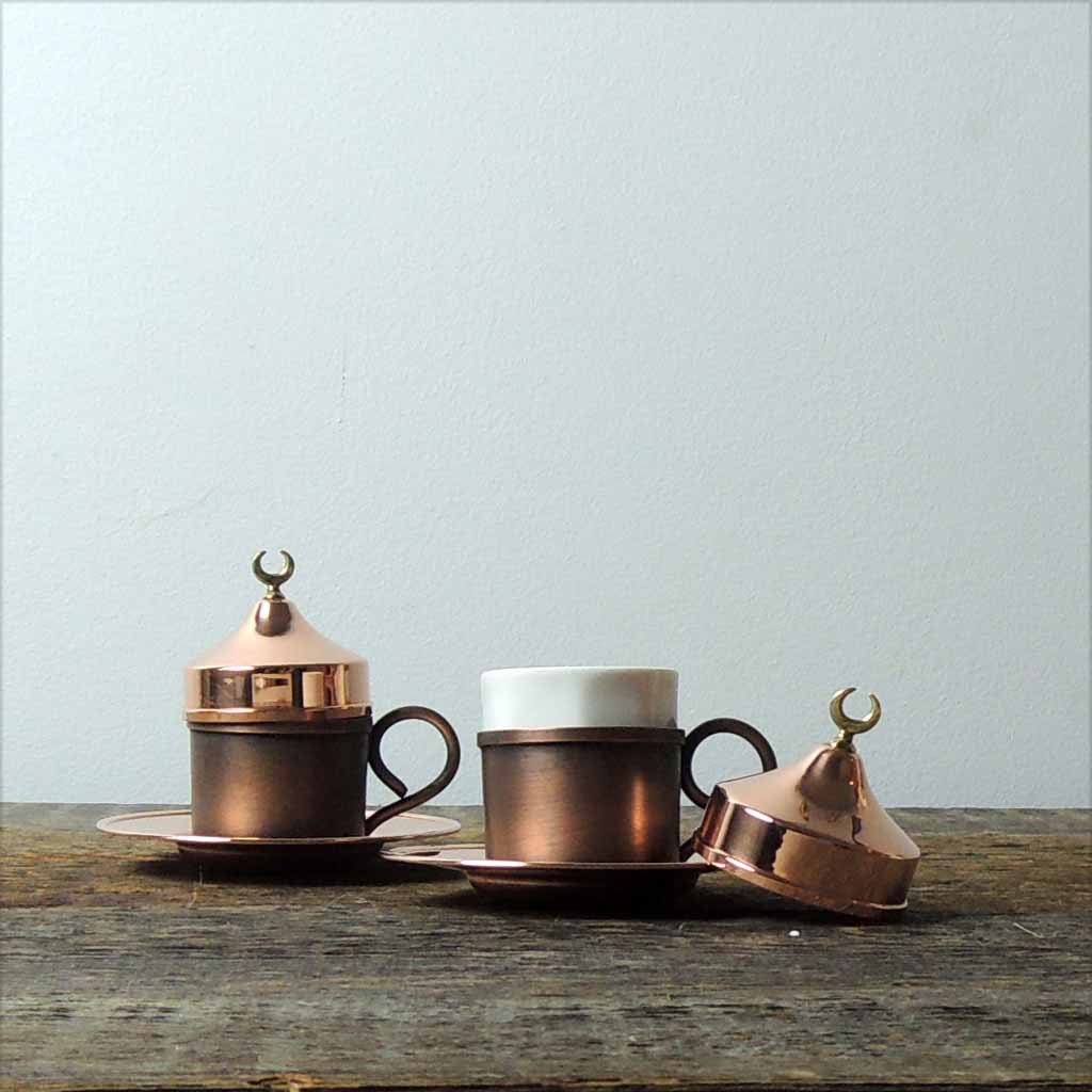 Set of Copper Turkish Coffee Cups - Simple Life Istanbul   - 1