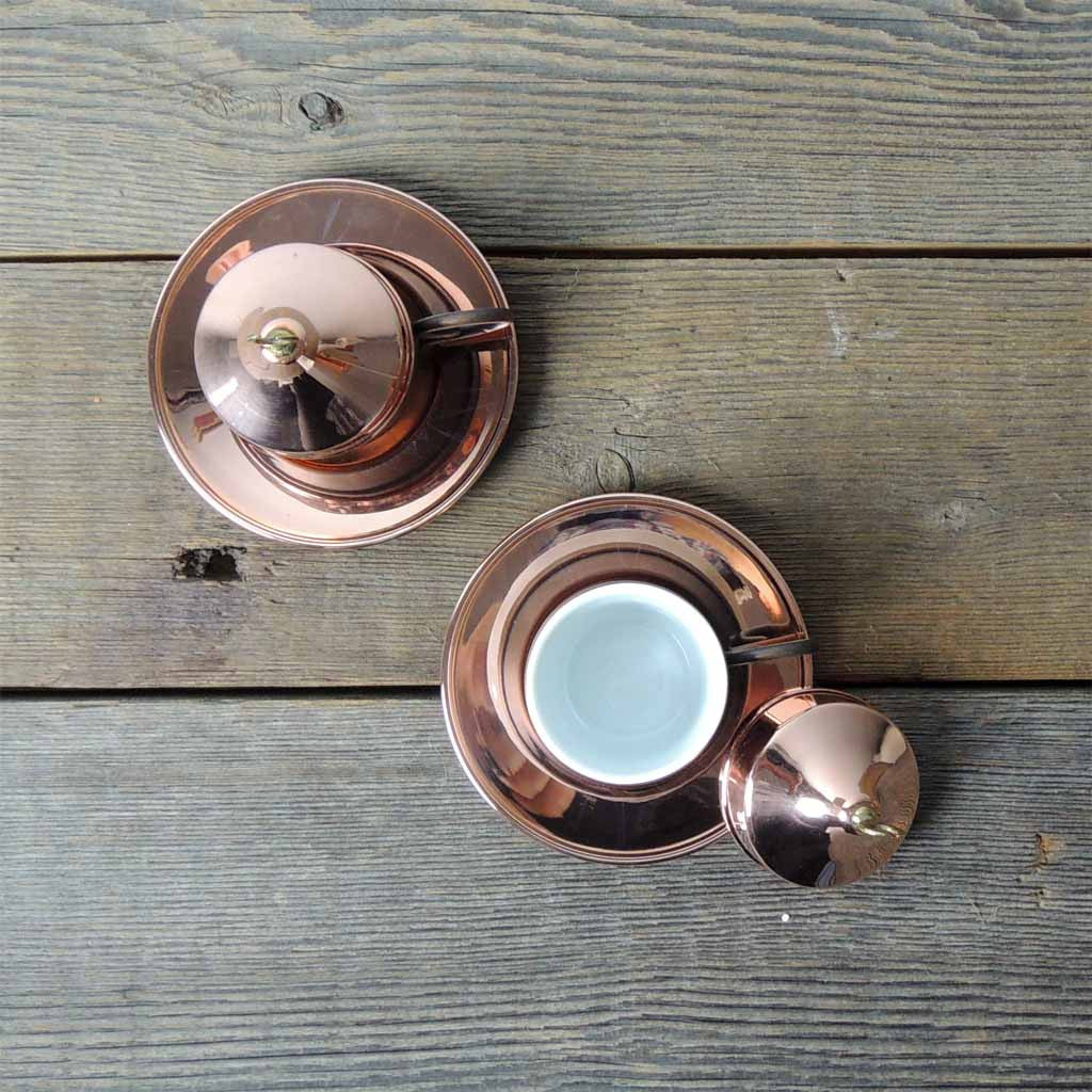 Set of Copper Turkish Coffee Cups - Simple Life Istanbul   - 2