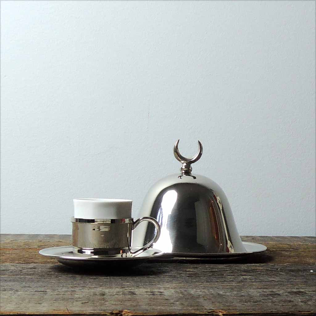 Nickel Plated Copper Single Serve Turkish Coffee Set - Simple Life Istanbul   - 2