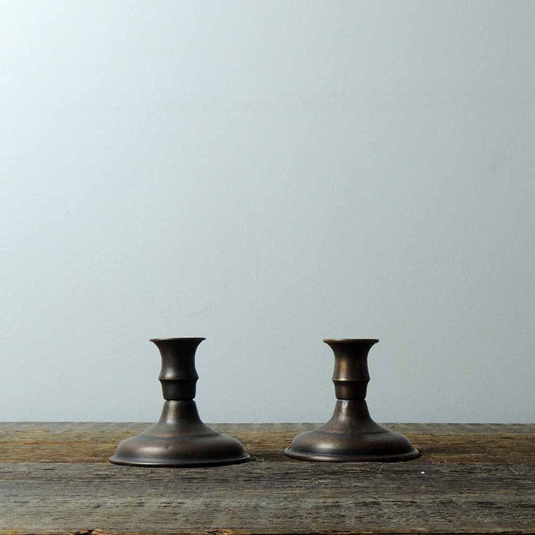 Set of Copper Candle Sticks - Simple Life Istanbul   - 1