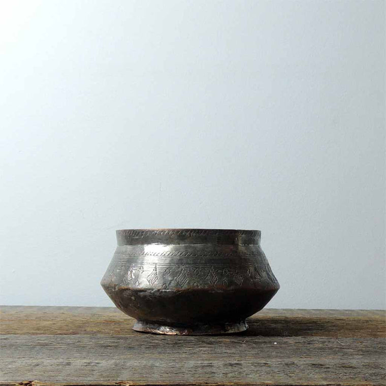Antique Copper Kayseri Bowl - Simple Life Istanbul   - 1