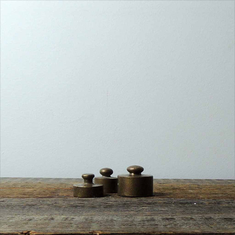 Set of Antique Brass Grams - Simple Life Istanbul   - 1