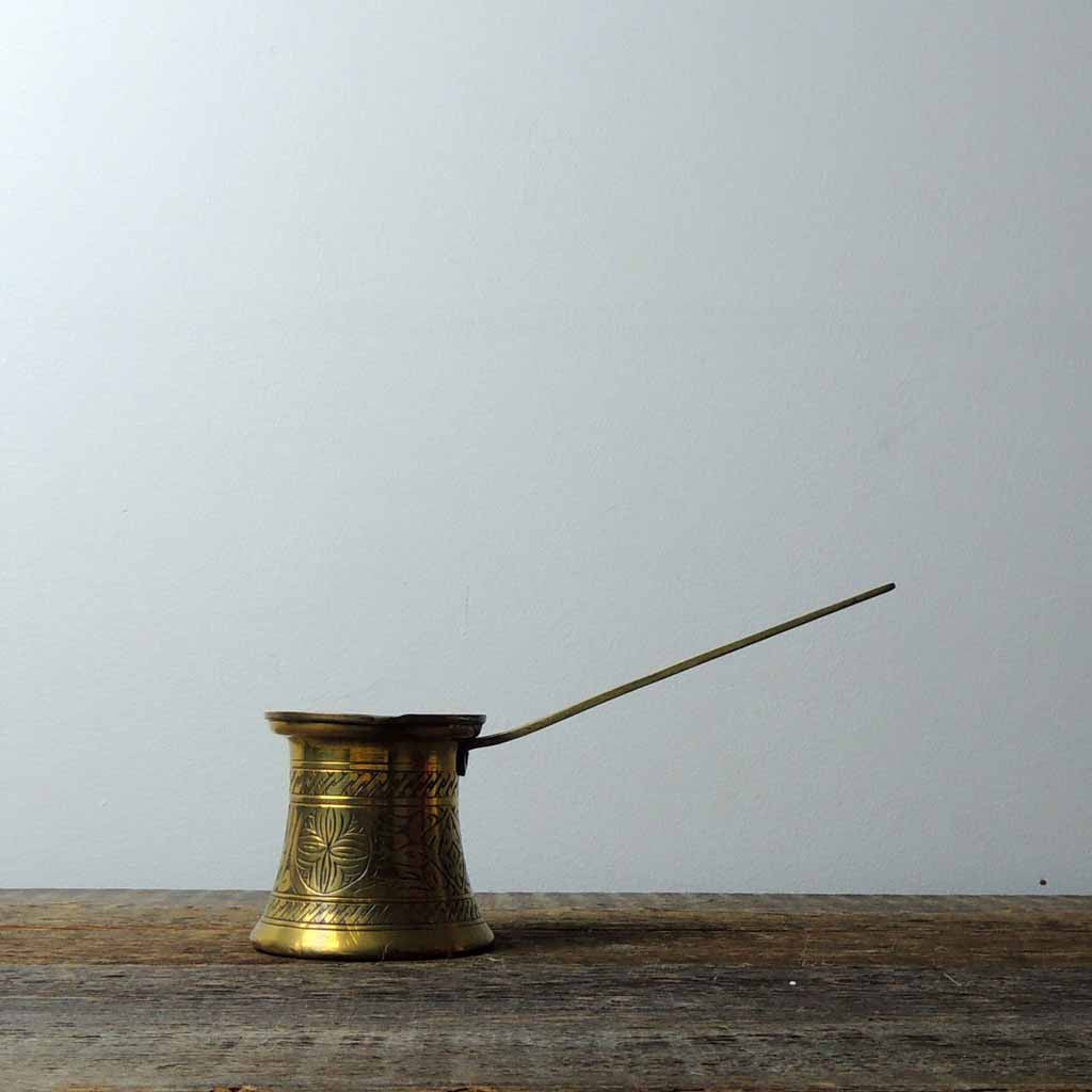Antique Brass Cezve - Simple Life Istanbul   - 1