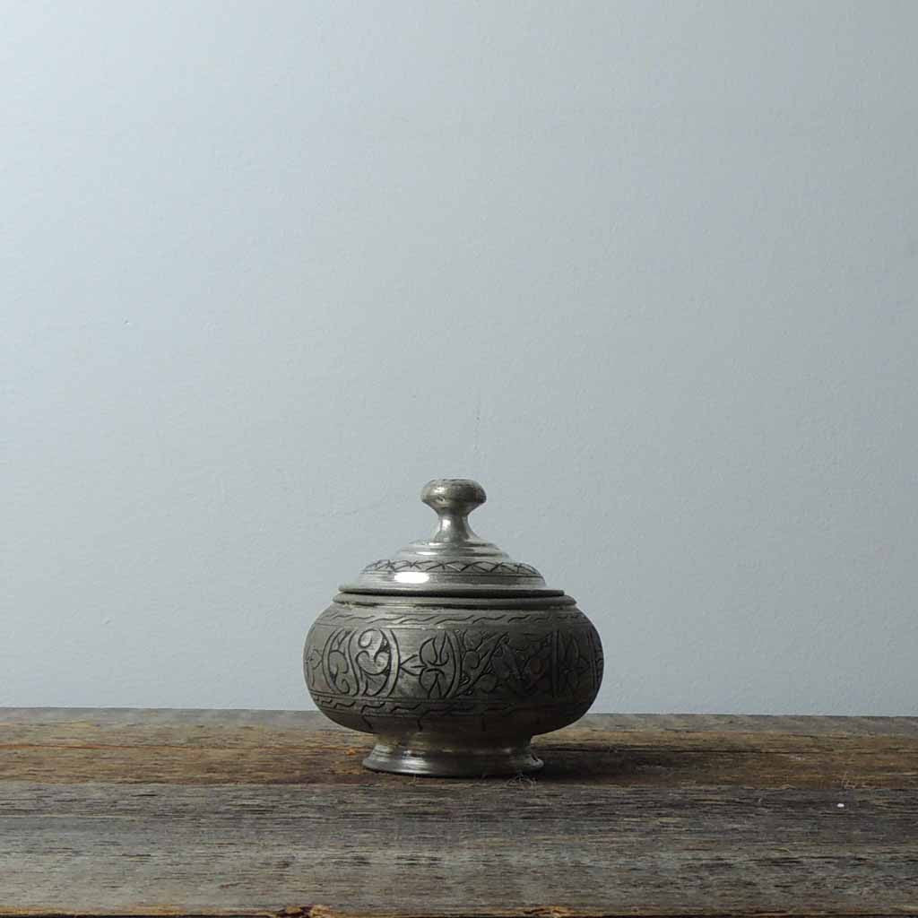 Antique Copper Antep Sugar Bowl - Simple Life Istanbul   - 1