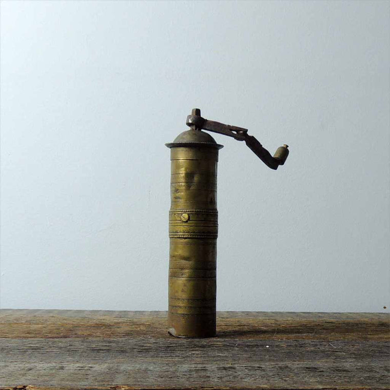 Antique Brass Coffee Grinder - Simple Life Istanbul   - 1