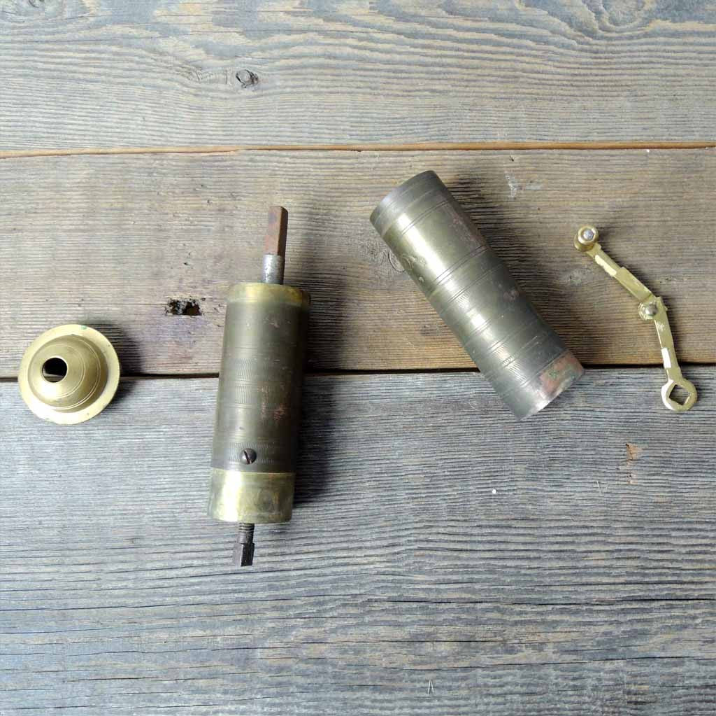 Antique Brass Coffee Grinder - Simple Life Istanbul   - 2
