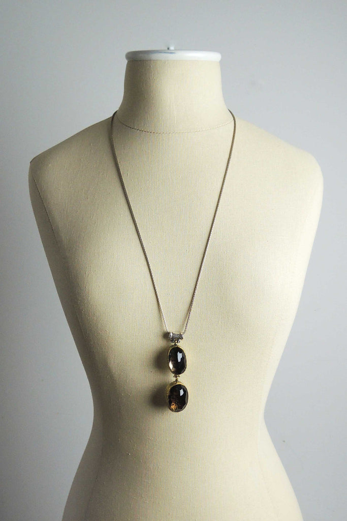 Smoky Topaz Ottoman Pendant Necklace - Simple Life Istanbul   - 2