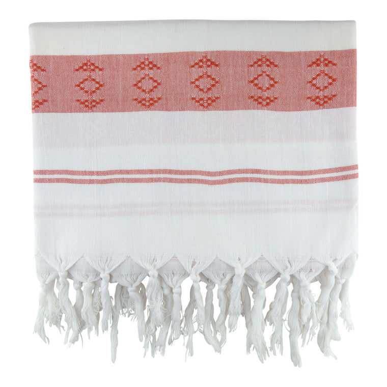 Salmon Sultan Cotton Turkish Peshtemal Towel - Simple Life Istanbul   - 1