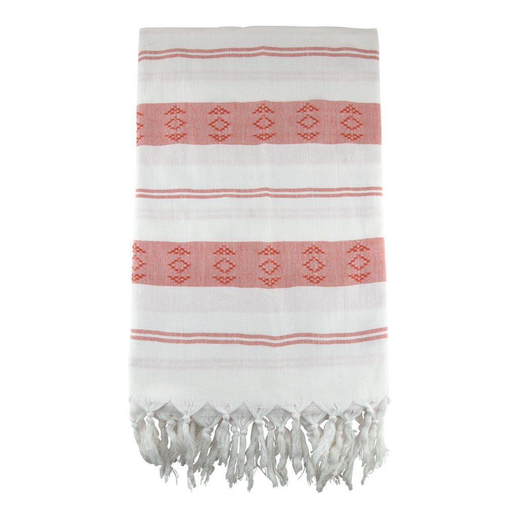 Salmon Sultan Cotton Turkish Peshtemal Towel - Simple Life Istanbul   - 2