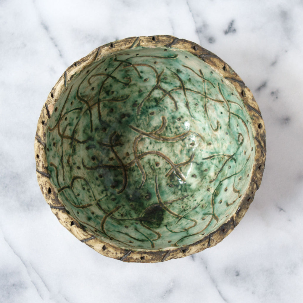 Handmade Ceramic Dot Bowl - Simple Life Istanbul   - 2