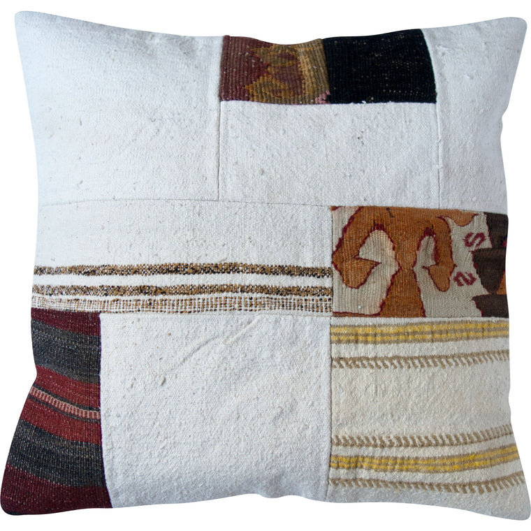 Neutral Kilim Patchwork Pillow IV - Simple Life Istanbul   - 1