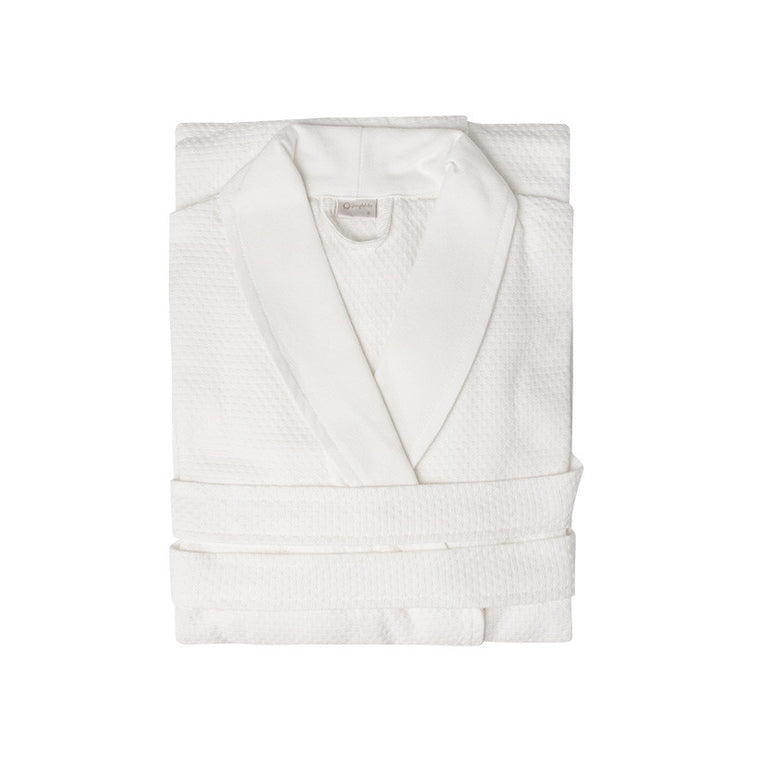 White Waffle Bathrobe - Simple Life Istanbul
