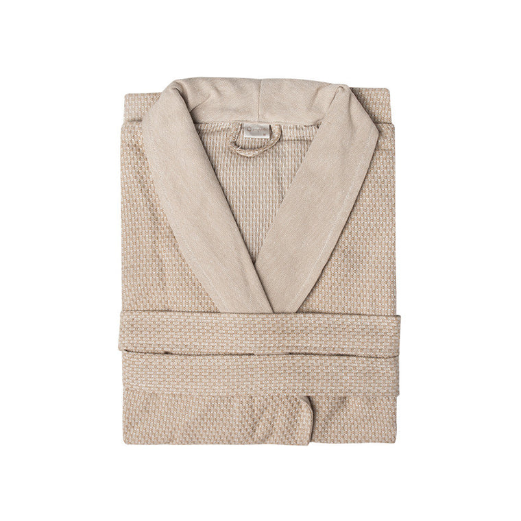 Linen Waffle Bathrobe - Simple Life Istanbul