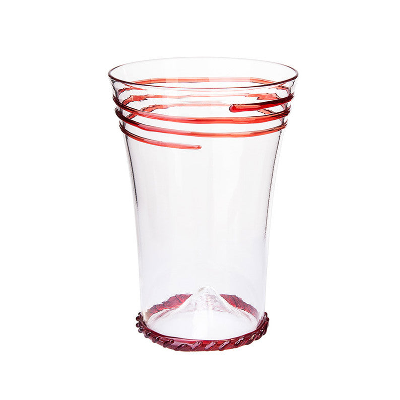Red Rings Water Glass - Simple Life Istanbul   - 1