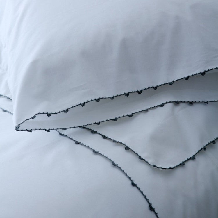 Navy Hand Lace Duvet Set - Simple Life Istanbul   - 3