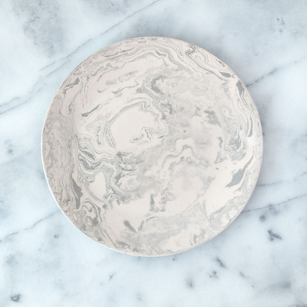 Stone Ebru Light Marble Ceramic Dinner Plate - Simple Life Istanbul   - 1