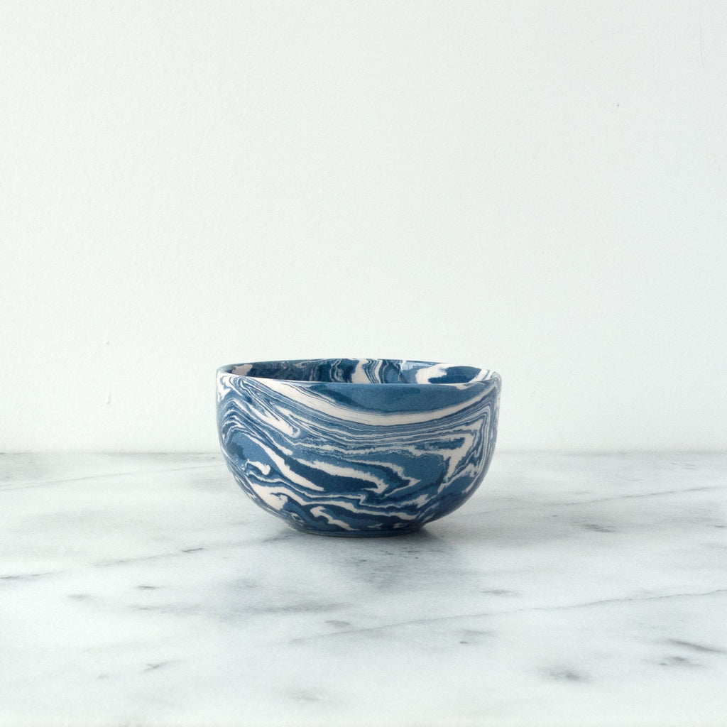 Cobalt Ebru Marble Ceramic Mini Bowl - Simple Life Istanbul   - 1