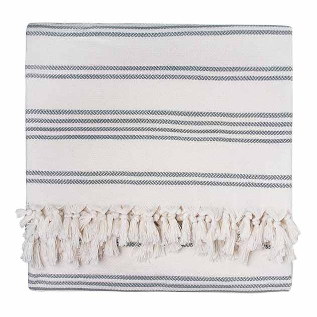Grey Stripe Blanket - Simple Life Istanbul