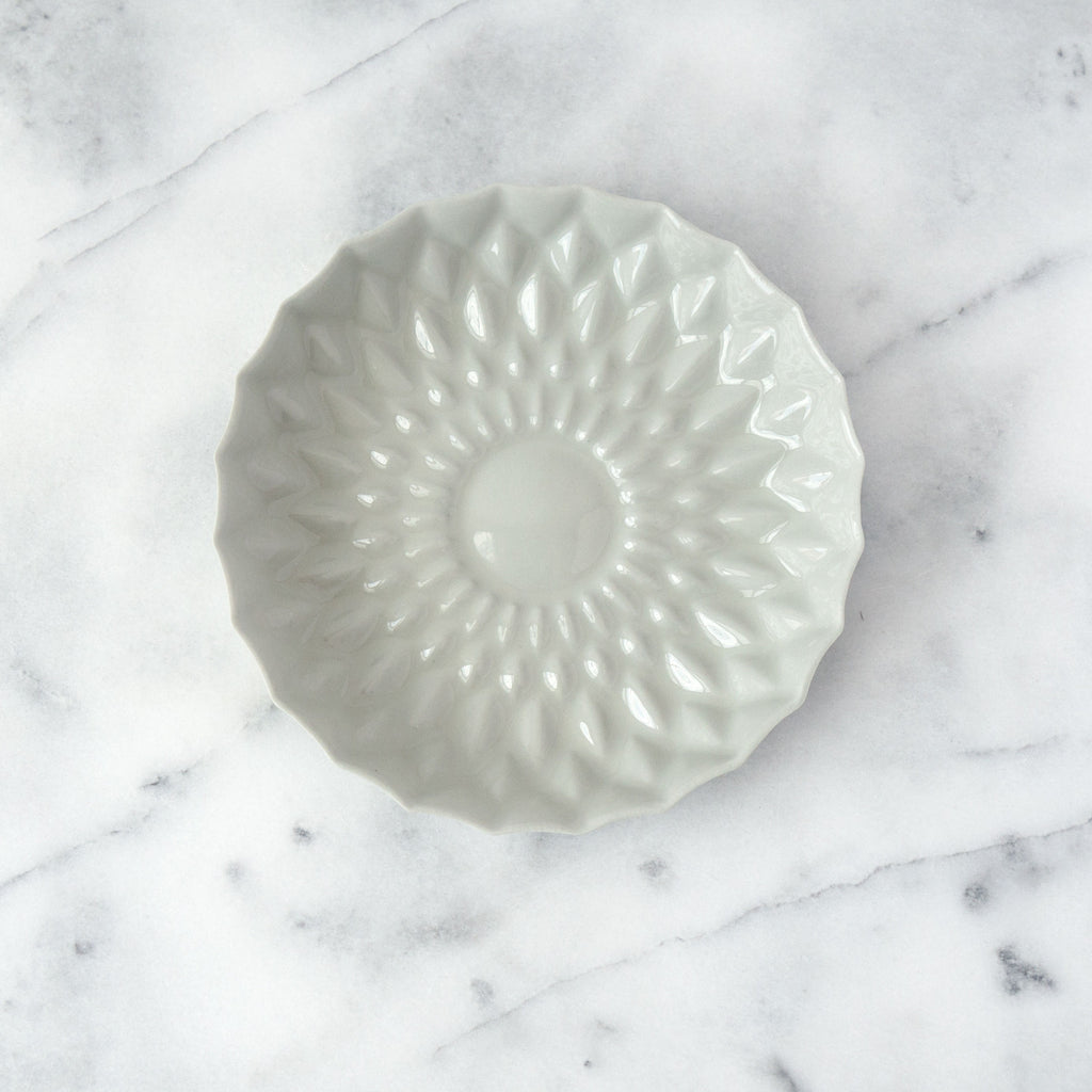 Greige Porcelain Flower Plate - Simple Life Istanbul   - 1