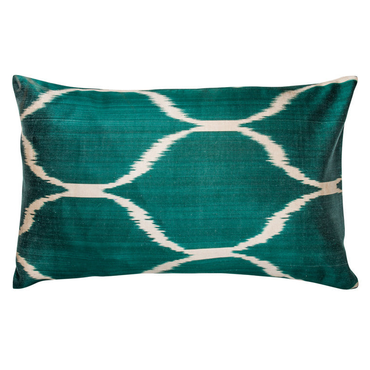 Green Ikat Diamond Dot Pillowcase - Simple Life Istanbul