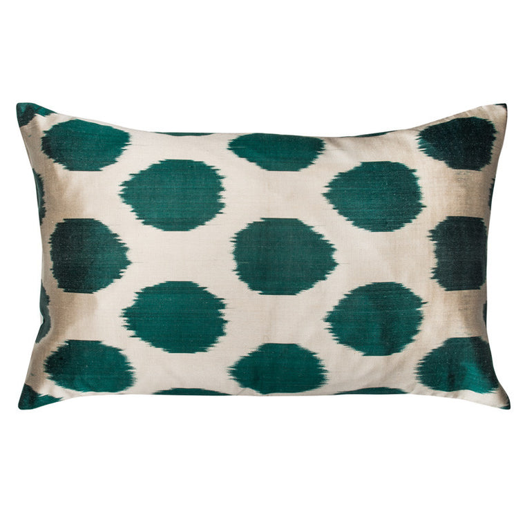 Green Ikat Dot Pillowcase - Simple Life Istanbul