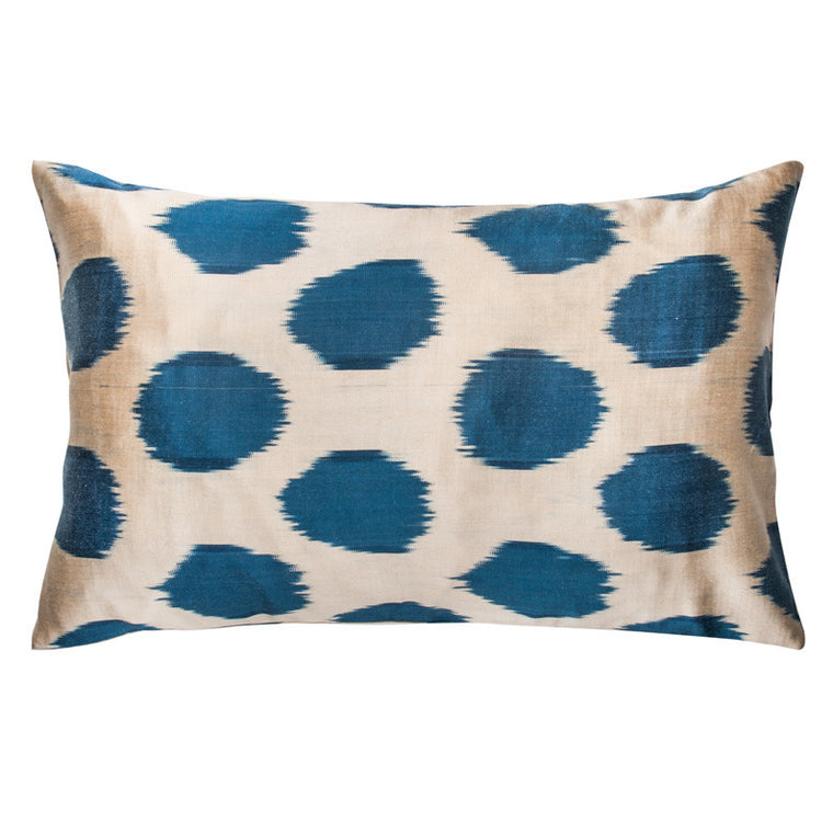Indigo Ikat Dot Pillowcase - Simple Life Istanbul