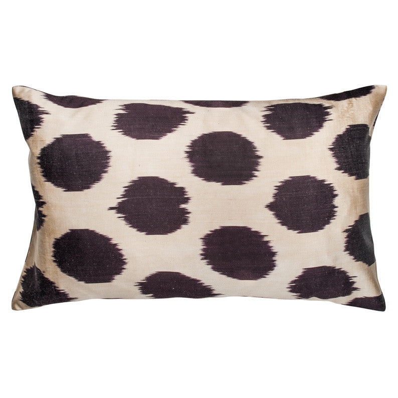 Plum Ikat Dot Pillowcase - Simple Life Istanbul